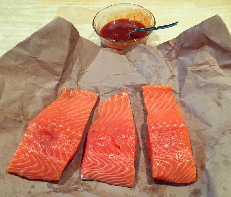 Big Green Egg Spicy Korean Salmon