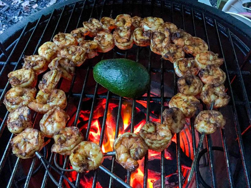Big Green Egg Shrimp Tacos