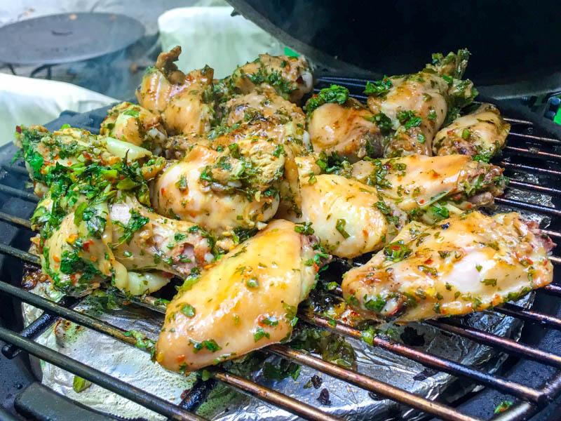 Kamado Chimichurri Chicken Wings