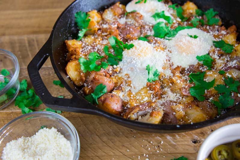 Crispy Chorizo and Potato Breakfast Hash