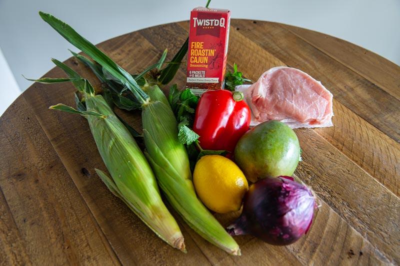 Twist'd Q Blackened Pork Chops with Mango Salsa