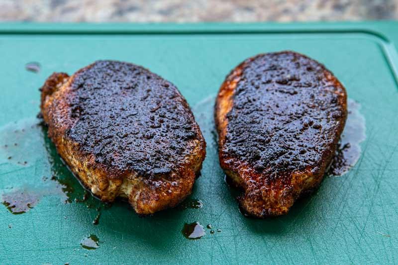 TwistdQ Blackened Pork Chops with Mango Salsa