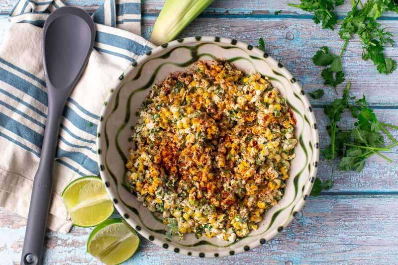 Grilled Elote Corn Salad