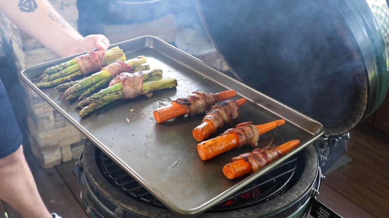Grilled Bacon Wrapped Vegetables with OXO