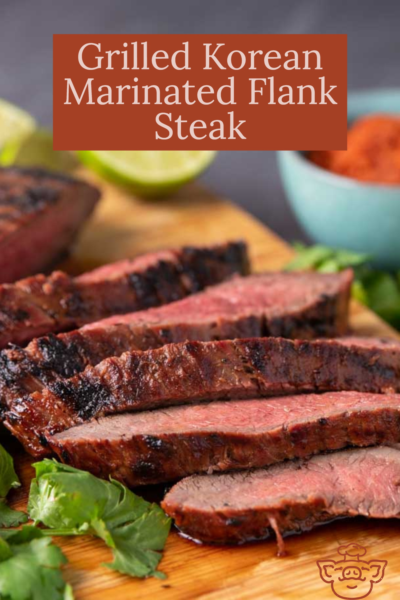 Grilled Korean Marinated Flank Steak